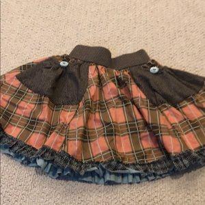 Matilda Jane Shaney Loves Gabby Skirt pink plaid 2